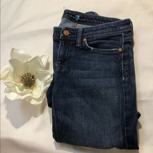 7AM Flynt Dark Denim Bootcut Jeans Size 26
